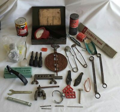 MIXED LOT OF ESTATE Vintage Junk Drawer Tools & Misc Items Macs Allen Allstate &