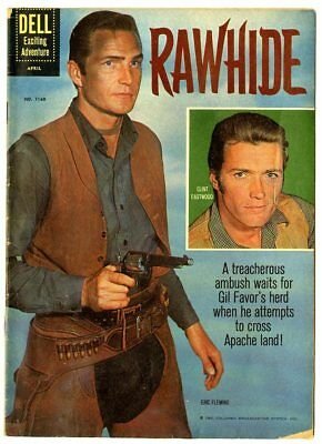 Four Color #1160 VG- 3.5  Rawhide  Clint Eastwood Photo Cover  Dell  1961