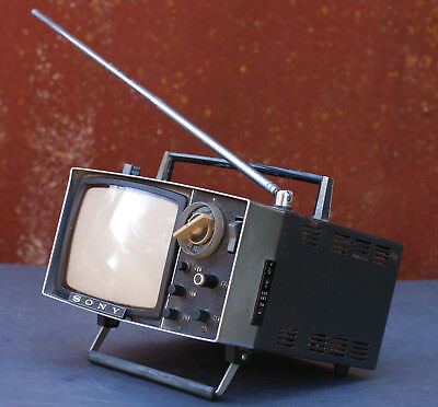 "Vintage ""Sony Micro"" Television Model 5-303M - Made in Japan"