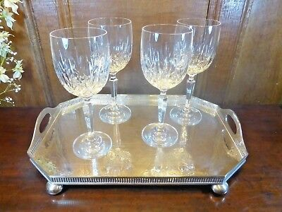 "EXCELLENT Waterford Crystal ""NOCTURNE MOONLIGHT"" SET 4 WINE GLASSES - 7 5/8"""