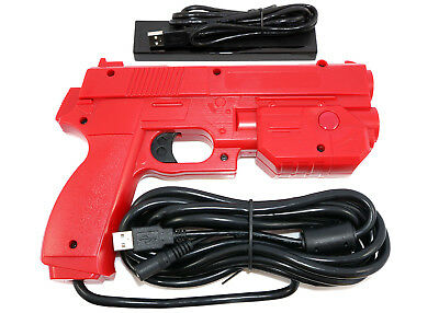 Red Ultimarc AimTrak Arcade RECOIL Light Gun for MAME,Win,PS2,PS3