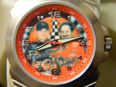NIB Coca Cola Nascar Dale Earnhardt Father Son Watch