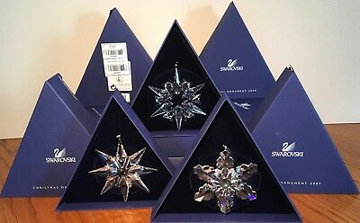 Swarovski AE Annual Edition Christmas Ornaments 2007, 2008, 2009 - Retired
