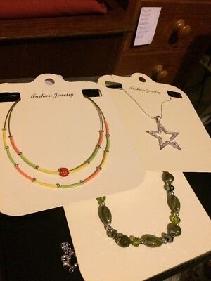Job Lot Of 3 Pcs Necklaces Free p&p