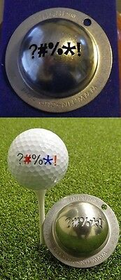 1 only TIN CUP GOLF BALL MARKER-OUT OF BOUNDS- BUY ANY 2  CUPS get special offer
