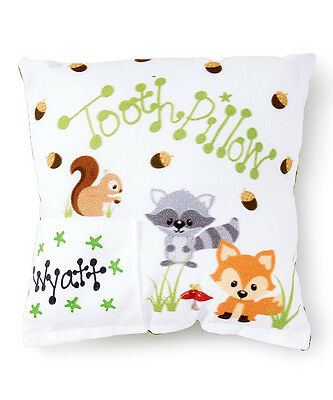 Personalized Woodland Creatures Animal Tooth Fairy Pillow