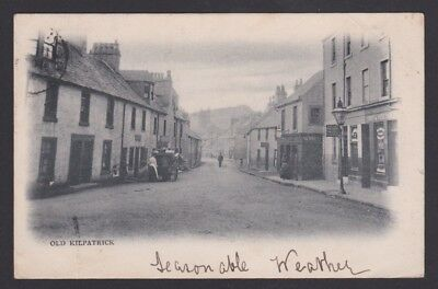 Old Kilpatrick, Dunbartonshire.  Early Animated Postcard, Shop Fronts