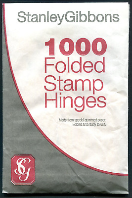Stanley Gibbons best quality peelable folded stamp hinges pack of 1000 FREE POST
