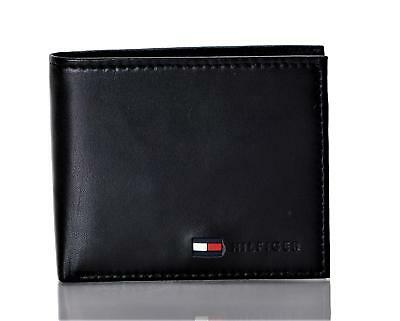 Tommy Hilfiger Men's Leather Stockon Coin Wallet Black