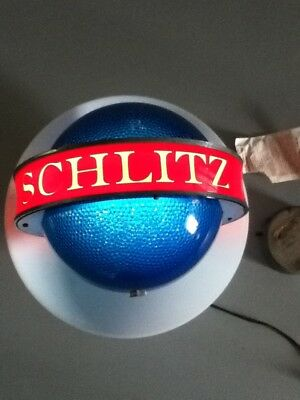 Schlitz beer sign NEW NOS 61 lighted sconce light motion spinning bar SATURN JC8