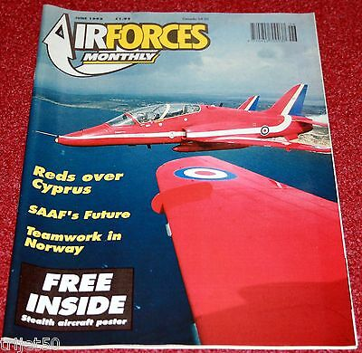 Air Forces Monthly Magazine 1992 June SAAF,Red Arrows,F-16 614TH TFS,Gazelle