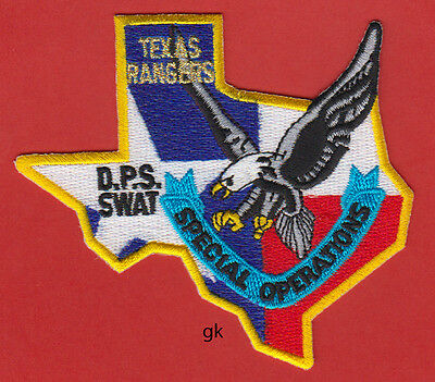 Texas Rangers  Dps Swat Police Eagle State Shape Special Operations  Patch