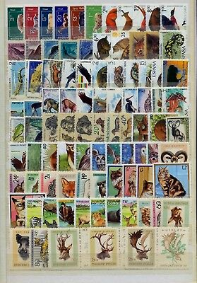 240 Different Stamps Fauna Worldwide USED and Mint