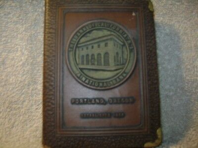Vintage book bank, Patented 1923,The Bank of California, great condition.