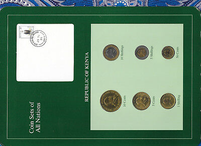 Coin Sets of All Nations Kenya 1991-1995 UNC 10 Shillings 1994 1,5 Shillings 95