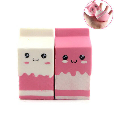 Milk Carton Box Jumbo Squishy Soft Slow Rising Toy Scented White/Pink For Wreak