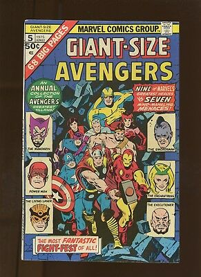 Giant-Size Avengers 5 VF+ 8.5 * 1 Book Lot * Roy Thomas & Don Heck!