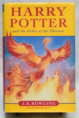 J. K. Rowling, Harry Potter and the Order of the Phoenix (2003) - 1st UK Edition