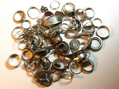 300 GRAMS of Sterling Silver Rings found Metal Detecting - Free Shipping