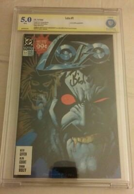 Lobo #1 CBCS (not CGC) Signed & Sketched Simon Bisley 1st Appearance LOBO
