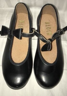 Toddler Girl Black Mary Jane Bow Techno Tap Shoes Size 10M