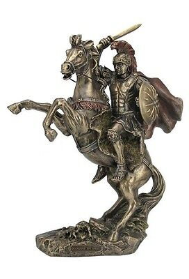 13.25 Inch Alexander The Great Statue Macedonian Greek Figurine Figure On Horse