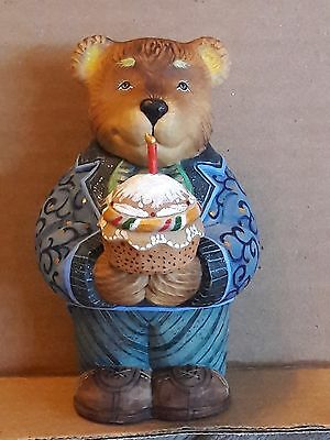 DeBrekht Celebrations 2005 Birthday Bear sculpture #57612-5