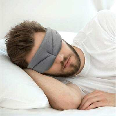 Travel Sleep Eye Mask 3D Memory Foam Padded Cover Sleeping Blindfold Rest Relax