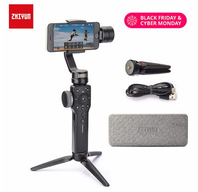 US Warehouse Zhiyun Smooth 4 Handheld 3-Axis Smartphone Gimbal Stabilizer- Black