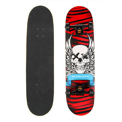 "Kids Beginner Skateboard Complete - 8.15"" x 31"" -7 ply Maple -Abec 7 Carbon -Red"