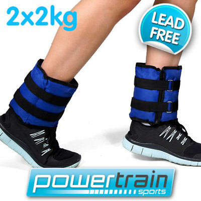 2x 2kg Lead-Free Ankle Weights