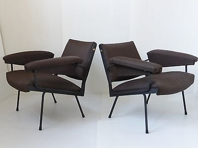 BEAUTIFUL PAIR OF ARMCHAIRS YEARS 50 WORK ITALIAN 1950 VINTAGE 50's CHAIRS