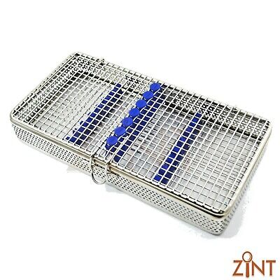 Perforated Sterilization Autoclave Mesh Tray For 7 Pieces Stainless Lab Tool New