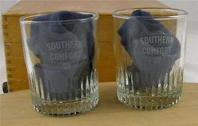 Two Southern Comfort Promo Rocks/Whiskey Glasses
