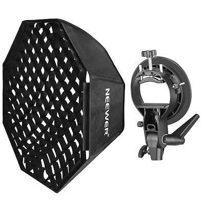 Neewer 32 inch Grid Octagonal Softbox w/ Mount Speedring and S Bracket Holder