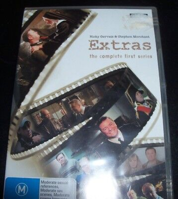 Extras The Complete First Season 1 (Ricky Gervais) (Aust Region 4) DVD – New