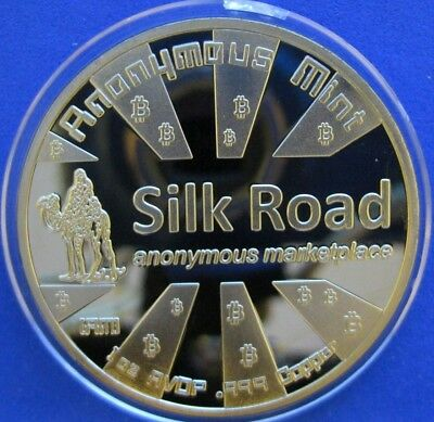 8 For $30. 1 Oz Bitcoin Anonymous Marketplace Silk Road *token* Gold Color Clad