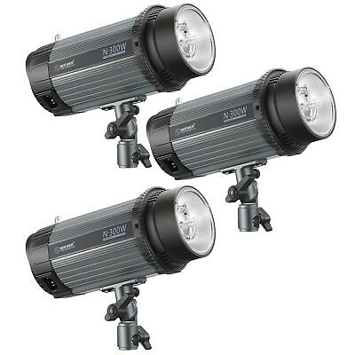Neewer 900W(3-Pack 300W)5600K Studio Strobe Flash Monolight with Modeling Lamp