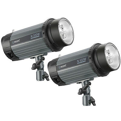 Neewer 600W(2-Pack 300W)5600K Studio Strobe Flash Monolight with Modeling Lamp