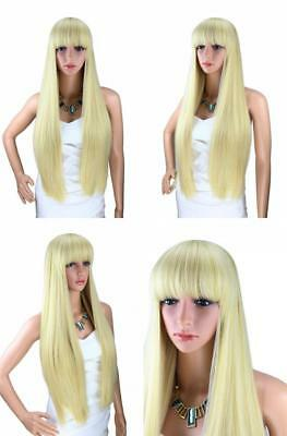 Kalyss 26 Inches Women's Long Straight Premium Synthetic Blonde Full Hair...