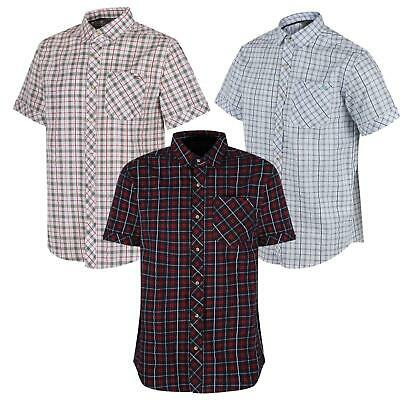 Regatta Deakin II Mens Coolweave Cotton Short Sleeved Check Shirt
