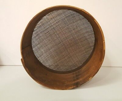 Early 19th Century Antique Primitive Shaker Woven Horse Hair Sieve