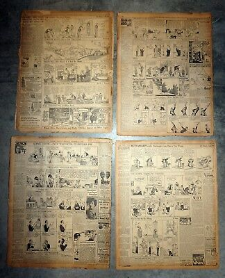 25 Daily Newspaper Comic Pages -1920-21-22 & 1928 Gasoline Alley