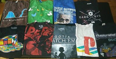 Bundle lot of 9 mens XL extra large graphic t shirts