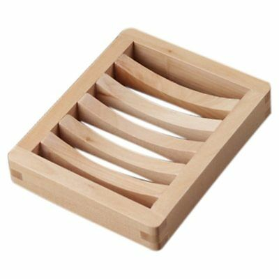 Wood Color Soap Box Wooden Soap Holder Q2W3