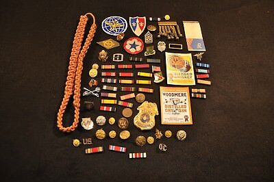 WWII US Army Military Police Estate Lot, Patches, Ribbons, Insignia, DIs & More