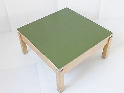 COFFEE TABLE SQUARE FORMICA KHAKI 1950 VINTAGE ROCKABILLY 50's #2