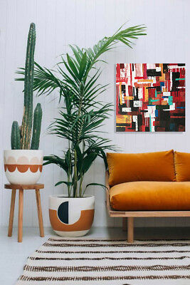 Abstract Shapes on Canvas Original Acrylic Painting Home Wall Art Decor