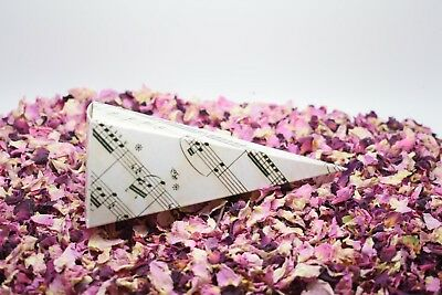 Natural Dried Petal Biodegradable Wedding Confetti PLUS Cones 25 Guests Red Pink