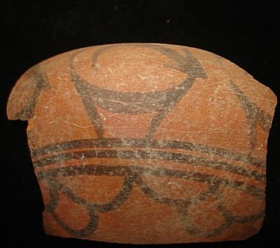 AWESOME!   ANCIENT PAINTED SHARD WITH DEER-5000 years old! 3000BC~no reserve